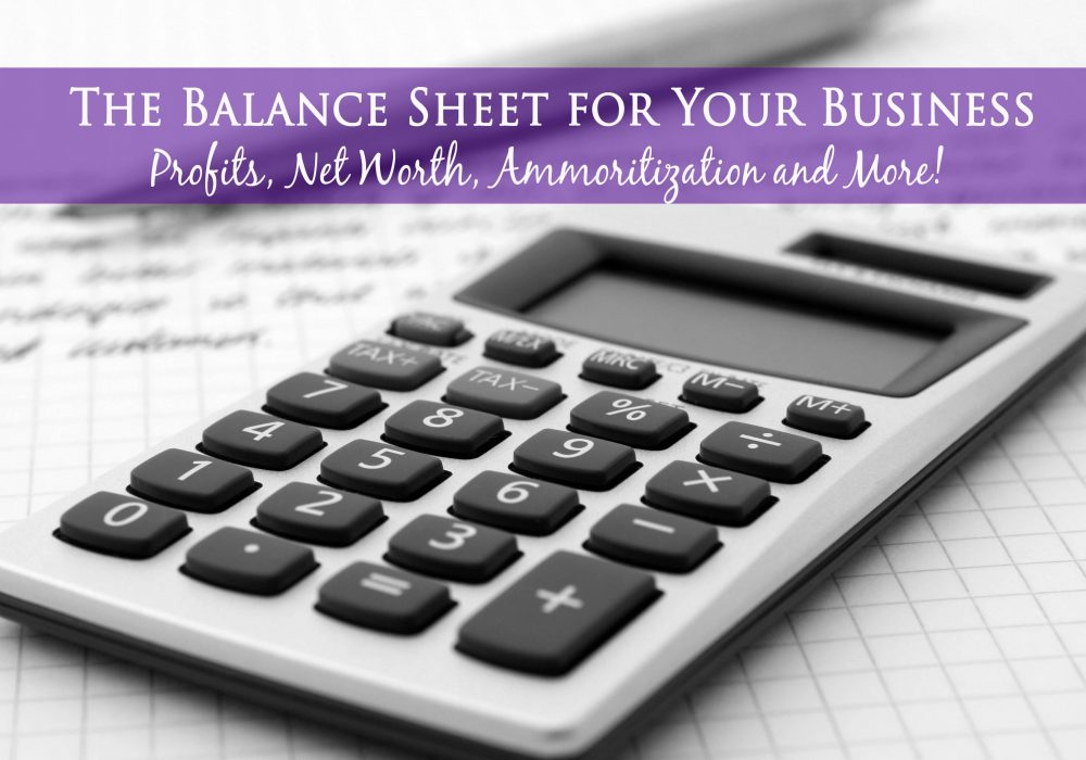 The Balance Sheet for YourBusiness